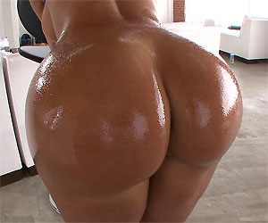 Big white ass oiled