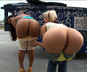 Some big butt alley sex